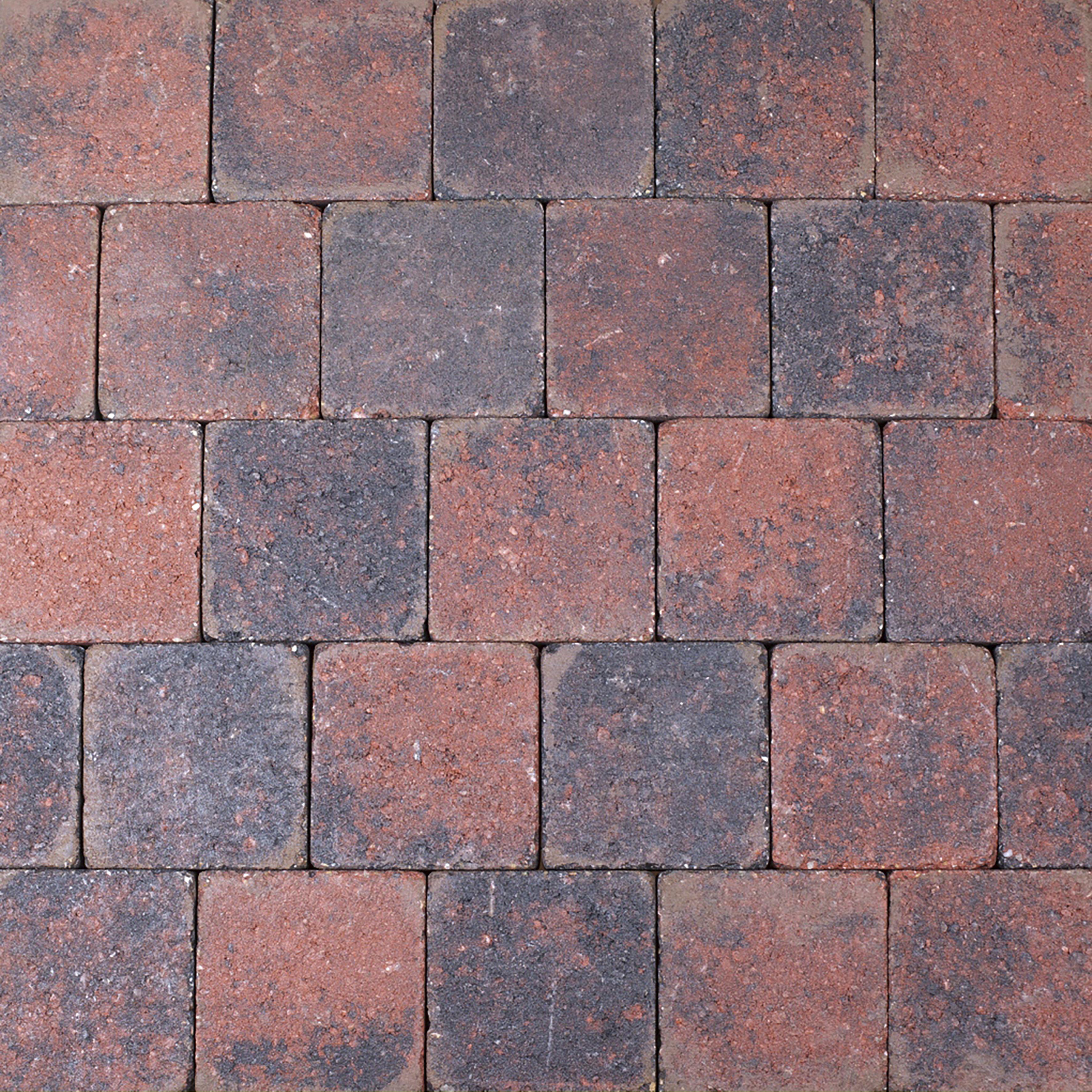 Trommelsteen Beton Rood/Zwart 14x14x7 cm - 45 Stuks - 0,88 m2