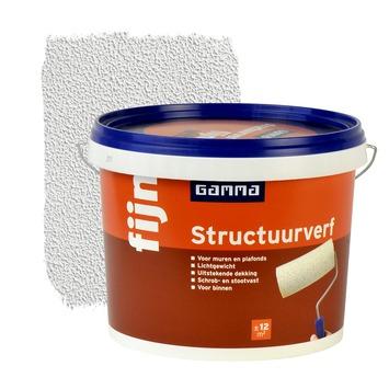 GAMMA structuurverf fijn wit 5 liter