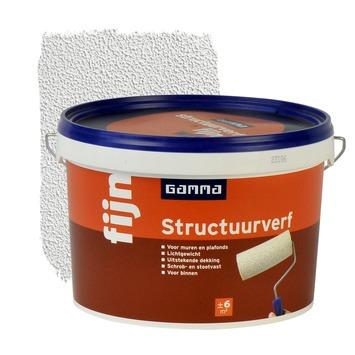 GAMMA structuurverf fijn wit 2,5 liter