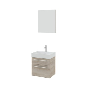 GAMMA | Bruynzeel badmeubelset Zelda met spiegel licht eiken ...