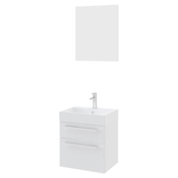 Bruynzeel badmeubelset Zelda met spiegel wit 50x38x56 cm