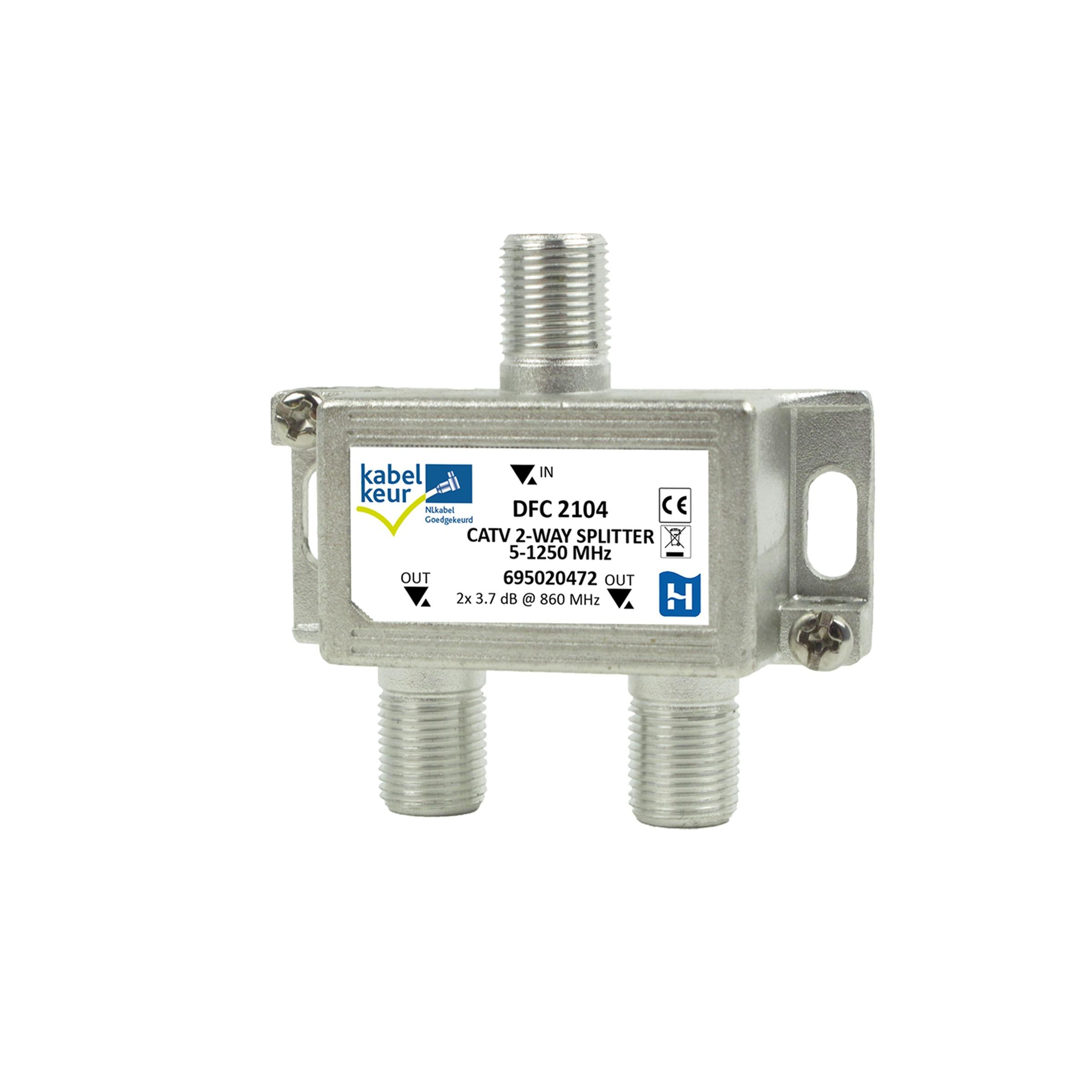 HIRSCHMANN tweeverdeler F-connector SHOP DFC 2104