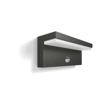 Philips wandlamp Bustan met geïntegreerde led 2x4,5 W grijs