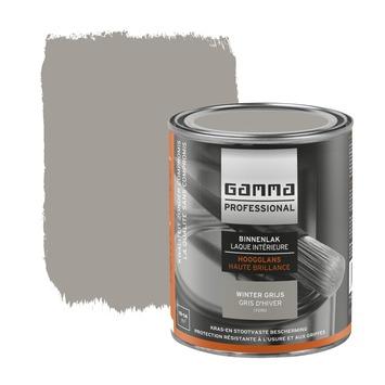 GAMMA Professional binnenlak hoogglans winter grijs 750 ml