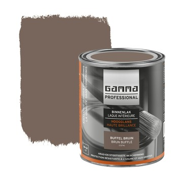 GAMMA Professional binnenlak hoogglans buffel bruin 750 ml