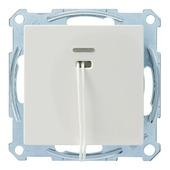 Merten System-M Pure inbouw trekschakelaar actief wit