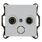 Merten System-M Pure contactdoos coax actief wit