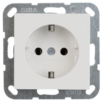 Gira ST55 inbouw enkel geaard stopcontact wit