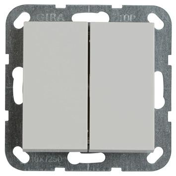 Gira ST55 inbouw wissel-/wisselschakelaar wit
