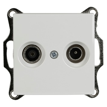 Busch-Jaeger Balance SI Stopcontact Coax Wit