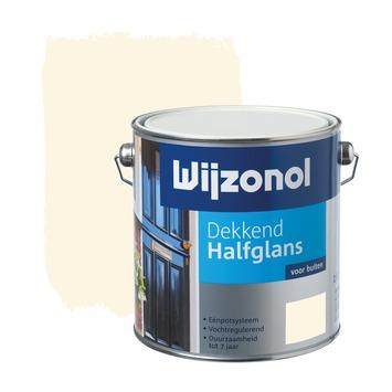 Wijzonol lak dekkend RAL 9001 crème wit halfglans 2,5 liter
