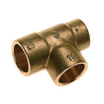 Bonfix soldeer verloop T-stuk messing 22x15x22 mm