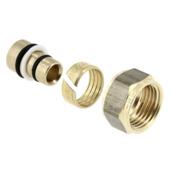 Bonfix verloopkoppeling 15 mm knel x 16,2 mm alu/pex