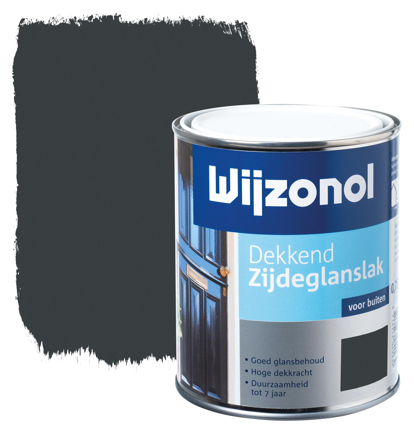 Wijzonol rm buitenverf zijdeglans dekkend alkyd antraciet 9121 750 ml