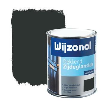 Wijzonol lak dekkend zwart zijdeglans 750 ml