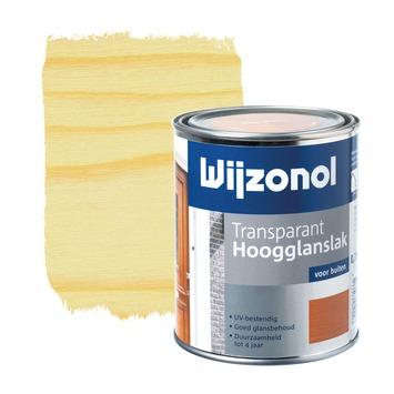Wijzonol lak transparant whitewash hoogglans 750 ml