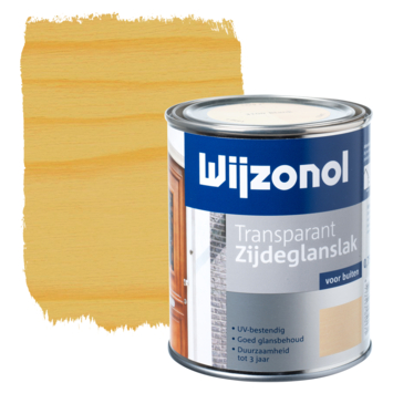 Wijzonol lak transparant kleurloos zijdeglans 750 ml