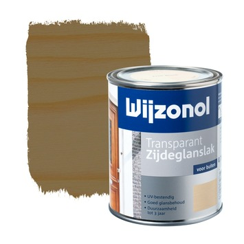Wijzonol lak transparant noten zijdeglans 750 ml