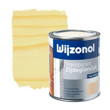 Wijzonol lak transparant whitewash zijdeglans 750 ml