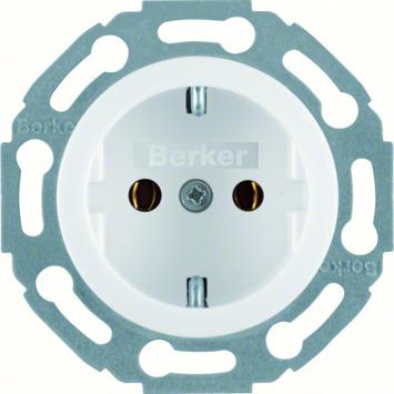 Berker 1930 inbouw enkel geaard stopcontact wit