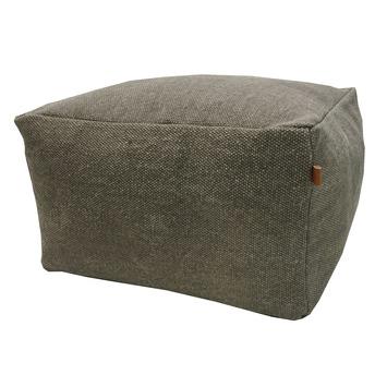 Poef Stonewash grijs 45x45x28cm