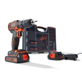 Black+Decker accuschroefmachine BDC718AS2O-QW 18 volt  + 80-delige accessoireset