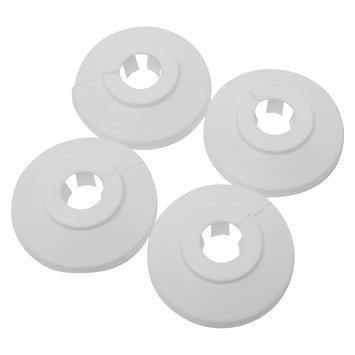 CV buisrozet wit Ø 12 mm 4 stuks