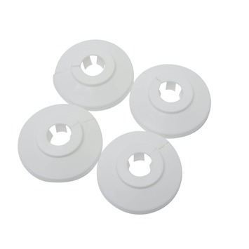 Buisrozet wit Ø 12-15 mm 4 stuks