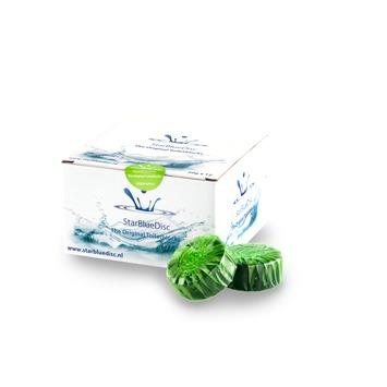 Starbluedisc toiletblokje voor rimless WC verpakking halfjaar groen