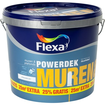 Flexa Powerdek wit 10 liter + 25%