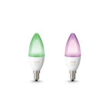 Philips Hue duopack kaarslamp LED E14 6.5 watt kleur