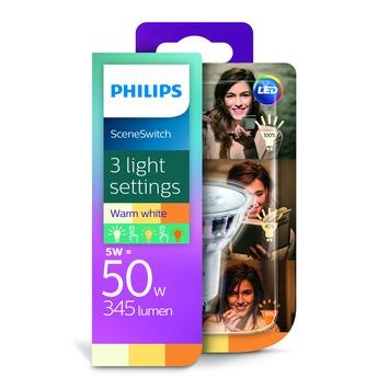Philips LED SceneSwitch 50W GU10 warm wit