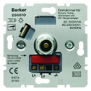 Berker S.1 Inbouw Dimmer Halogeen Spoeltrafo 20-500W