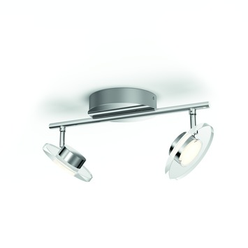Philips duospot Glissette LED 2X4.5W chroom