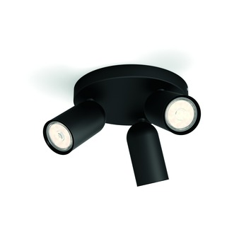 Philips triospot Pongee LED zwart 230V