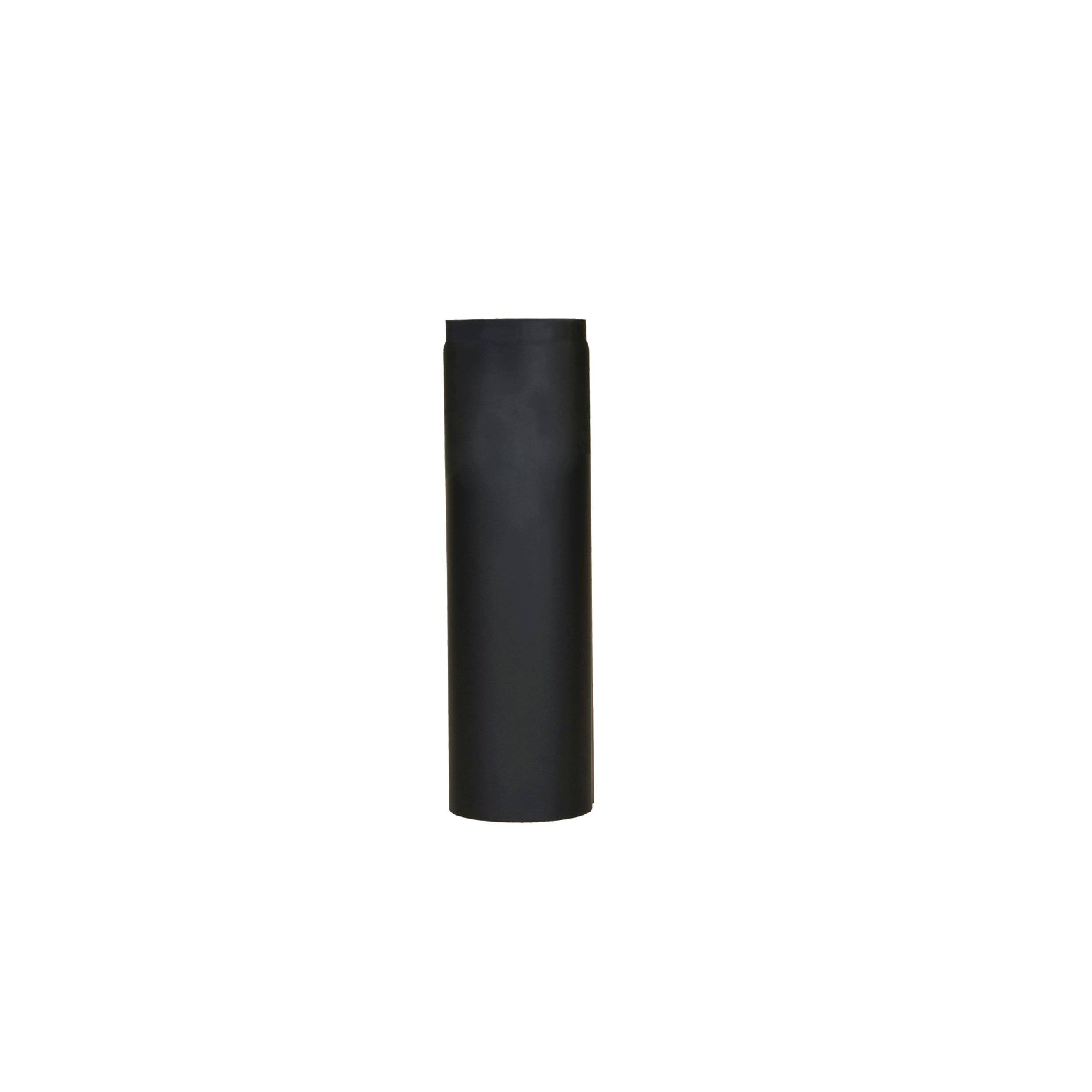 Livin' flame rechte kachelpijp 50cm zwart