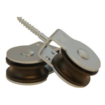 Katrol draaibaar wiel polypropyleen 25 mm 2 stuks