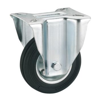 Bokwiel Rubber met plaatbevestiging Ø 125 mm max. 100 kg