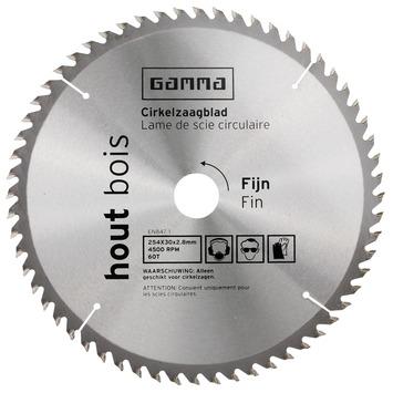 GAMMA zaagblad hout 254x30/16 mm 60 tanden