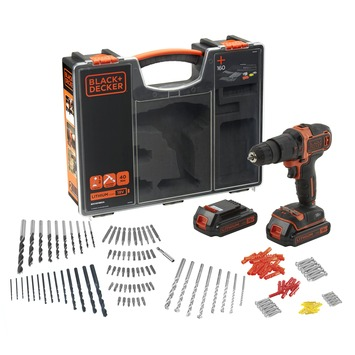 Black+Decker accuklopboormachine BDCHD18BOA-QW + 160-delige accessoireset