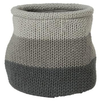 Sealskin Opbergmand Knitted 20x20 cm Grijs