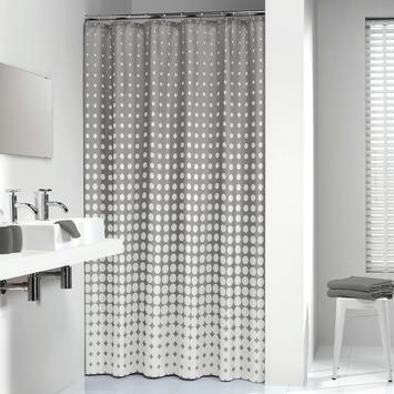 Sealskin Douchegordijn Speckles Textiel Grijs 180x200 cm