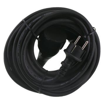 Handson Power supply verlengsnoer neopreen zwart 10 meter 3x1,5 mm
