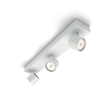 Philips opbouwspot MyLiving Star LED Wit 3 x 4.5W