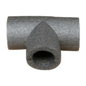 Buisisolatie T-stuk 12mm grijs