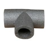 Buisisolatie T-stuk 28mm grijs