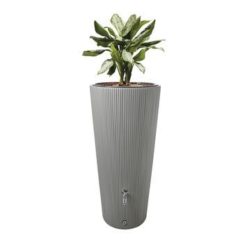 Regenton met Plantenbak Grijs Kunststof 220 Liter