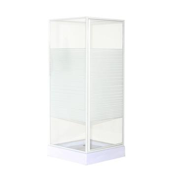 OK douchecabine draaideur met zijwand 80x80x185 cm wit