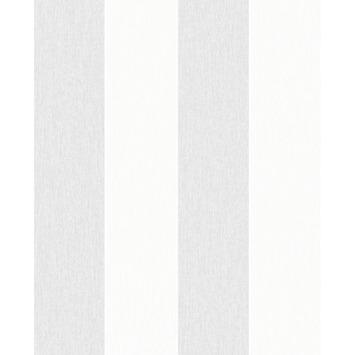 Wit Behang Kopen.Vliesbehang Katoen Streep Grijs Wit 32 780