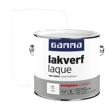 GAMMA lakverf voor buiten wit hoogglans 2,5 liter